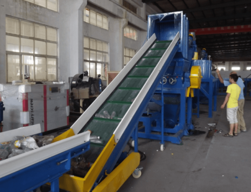Pet bottle crushing washing and drying line